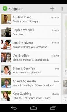 Unterhaltungen in Google Hangouts können zukünftig auch via SMS geführt werden. (Quelle: googleblog.blogspot.com)