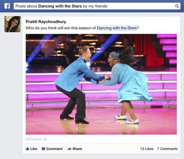 Facebooks Graph Search durchsucht in Zukunft auch die Inhalte von Beiträgen jeglicher Art.