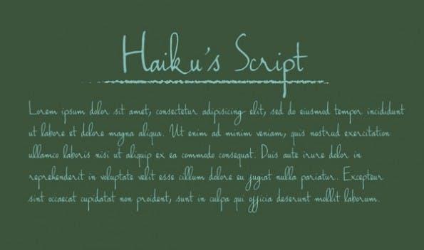 haikus-script-handschrift-font