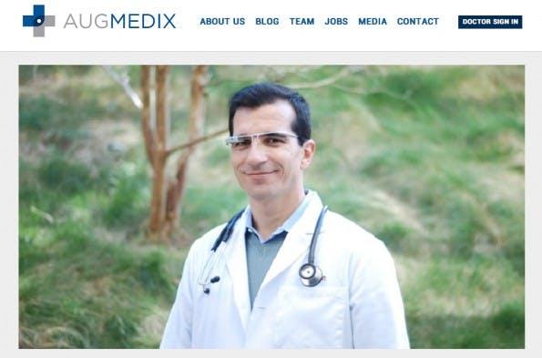 """Augmedix vereint Software und """"Wearable Devices"""" . Das Startup entwickelt eine App für Google Glass, die Ärzten bei der Behandlung helfen soll. (Screenshot: Augmedix)"""