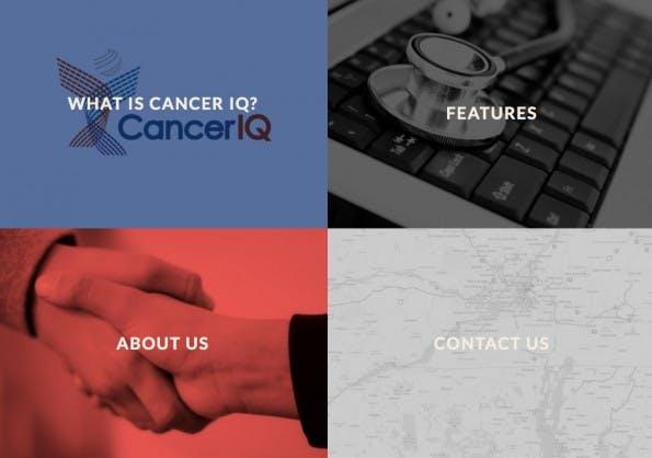 CancerIQ ist eine intelligente Datenplattform für Krebspatienten. Sie bringt Spezialisten und Patienten zusammen und empfiehlt personalisierte Behandlungsmethoden. (Screenshot: CancerIQ)
