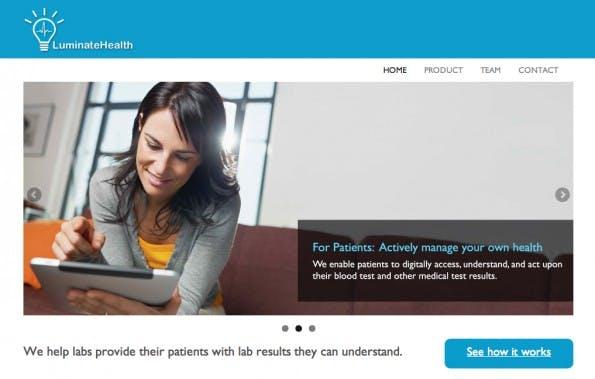 Viele Patienten haben keinen Zugriff auf ihre Krankenakte – und wenn, ist sie schwer zu verstehen. Das Startup LuminateHealth visualisiert die eigenen Daten anschaulich. (Screenshot: LuminateHealth)
