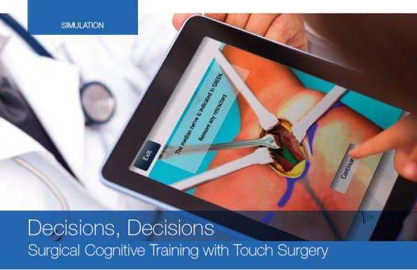 Operationen erfordern die richtige Vorbereitung. Mit der iPad-App Touch Surgery erhalten Chirurgen ein virtuelles Trainingswerkzeug. (Bild: Touch Surgery)