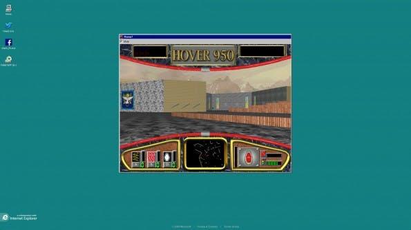 Über ein Easteregg kann man Hover! auch in der ursprünglichen Windows-95-Optik spielen.