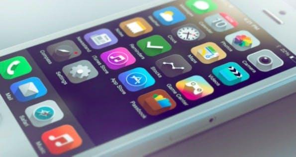 iOS 7 im Long-Shadow-Design. (Bild: )