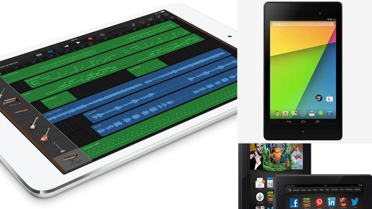 So schlägt sich das neue iPad Mini im Vergleich zu Nexus 7 und Kindle Fire HDX