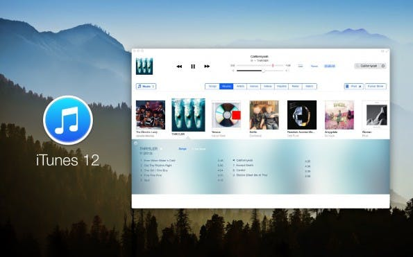 iTunes 12 im iOS-7-Look. (Bild: Anton Kovalev)