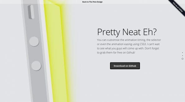 Apples Design out of the box mit One Page Scroll