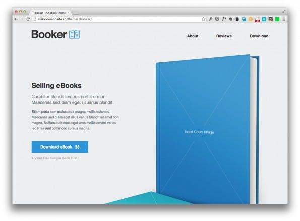 landingpage template booker