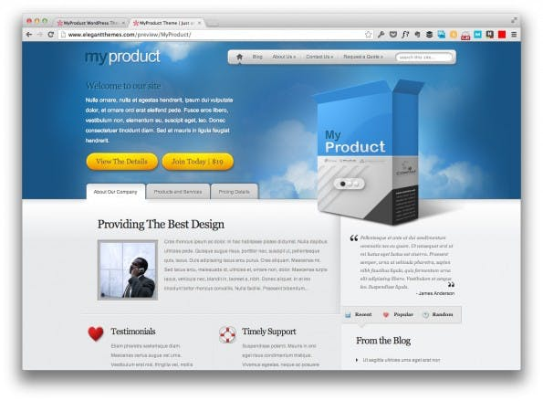 landingpage template my product
