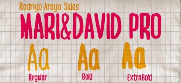 mari-david-handschrift-font