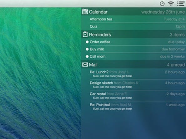 Notification-Center im iOS-7-Look. (Bild: Gustav Kjellin)