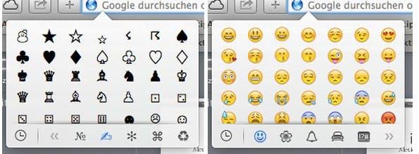 Emoji: So einfach kommt ihr an die Symbolbildchen unter OS X Mavericks.