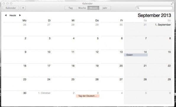 OS X Mavericks: Der Kalender sieht deutlich besser aus.