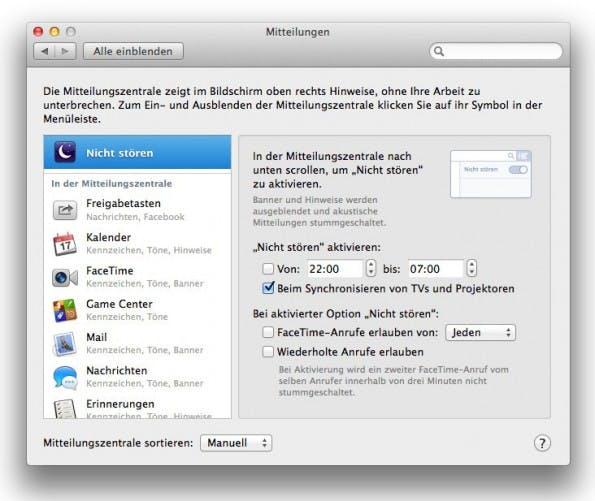 OS X Mavericks: Manchmal möchte man nur in Ruhe arbeiten.