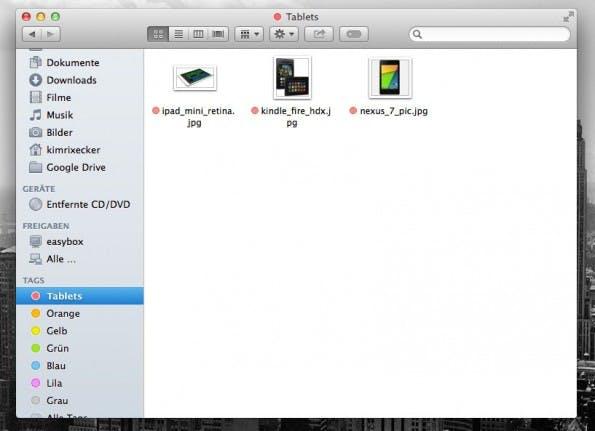 OS X Mavericks: Tags sind eine willkommene Neuerung.