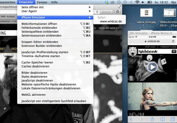 Remote Debugging mit Safari und iOS Simulator