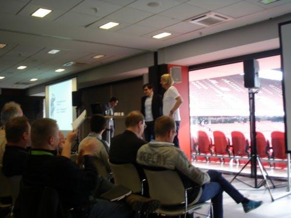Niels Dörje bei seiner Session auf dem SEOday 2013