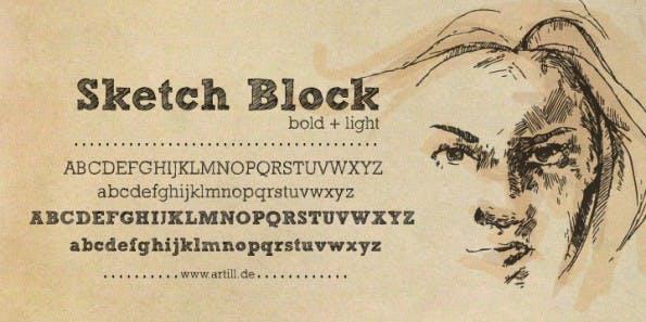 sketch-block-handschrift-font