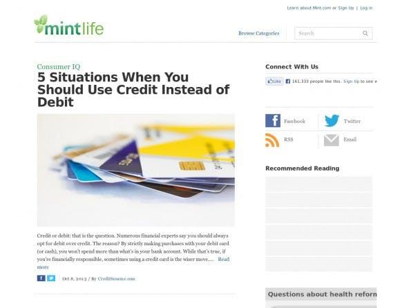 Wie Nutzer über die Software hinaus noch Geld sparen können, zeigt das Startup Mint in seinem Blog. (Screenshot: Mint)