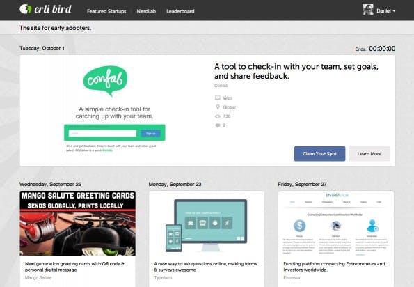 Für 149 Dollar gibt es einen Featured Artikel inkl. Platz im E-Mail-Verteiler. (Screenshot: ErliBird)