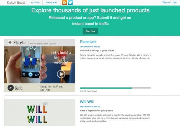 """Einen """"instant boost in traffic"""" verspricht Kickoff Boost mit nur wenigen Klicks. (Screenshot: Kickoff Boost)"""