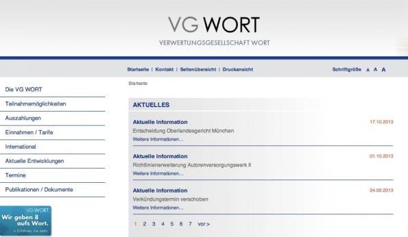 vg wort auszahlung 2013 dissertation