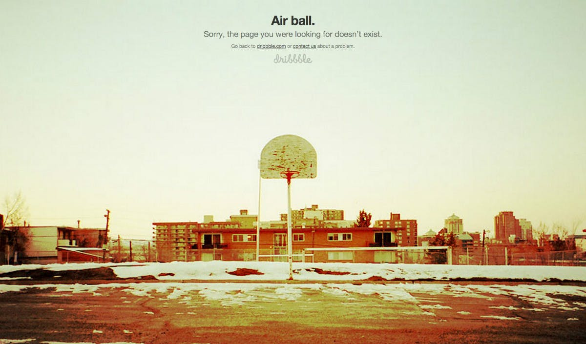 Airball bei Dribble.  Dribbble