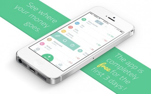 "Die Banking-Applikation ""Spendee"" überzeugt im Flat Design. (Bild: dribbble.com)"