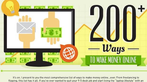 Geld verdienen im Internet: Freelancing, Video-Marketing, Bloggen und vieles mehr [Infografik]