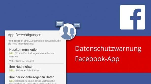 Facebook 4.0 für Android verlangt umfangreiche Zugriffsrechte – greift auf WLAN-Verbindung, SMS, MMS und Kalenderdaten zu. (Grafik: David Maciejewski)