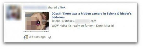 Facebook-Spam: Likejacker gehen mit unseriösen Links auf Klickfang. (Screenshot: CrossEyedMinistry)