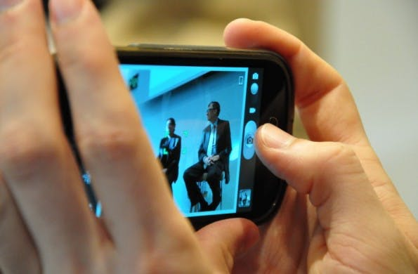 Smartphone-Abgabe: 36 Euro verlangt die ZPÜ, die GEMA und VG Wort vertritt, für Smartphone mit Touchscreen und mindestens acht Gigabyte Speicher. (Foto: Florian Blaschke)