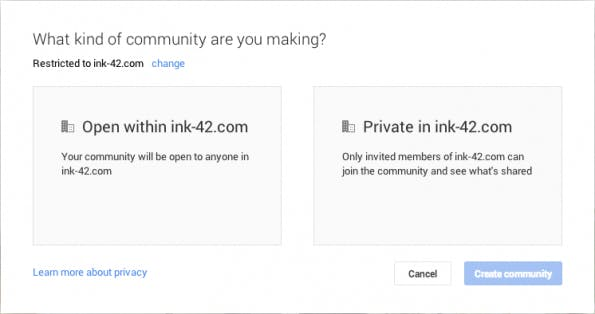 Google+ ermöglicht geschlossene Gruppen zur internen Unternehmenskommunikation. (Bild: )