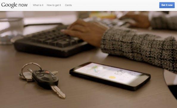 Offizielle Website zu Google Now. (Screenshot: Google Now)