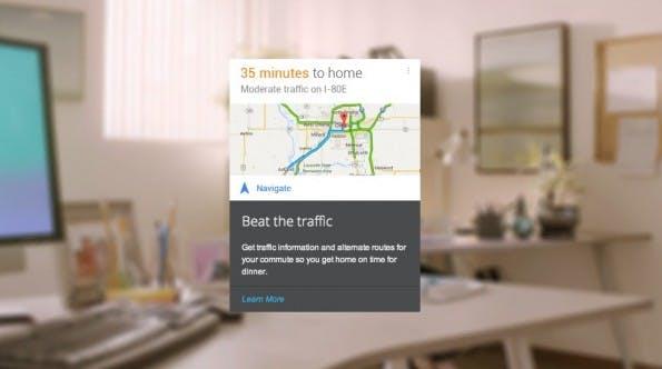 Google Now: Der schnellste Weg zum Ziel. (Screenshot: Google Now)