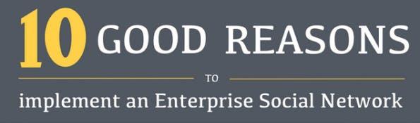 10 gute Gründe für Enterprise-Social-Networks. (Quelle: Zyncro)