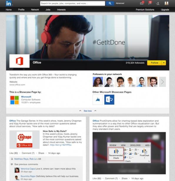 Unternehmen können jetzt bei LinkedIn auch Seiten für einzelne Produkte und Marken erstellen. (Screenshot: LinkedIn)