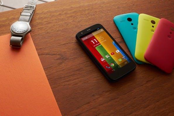 Das Motorola Moto G könnte Apple und Samsung in Sachen Absatzzahlen Konkurrenz machen – es ist ab 170 Euro erhältlich.(Foto: Motorola)