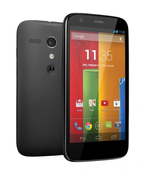 Das Motorola Moto G gewinnt keine Rekorde, bringt aber ordentliche Hardware mit, zum eispiel ein gutes 720p-Display. (Foto: Motorola)