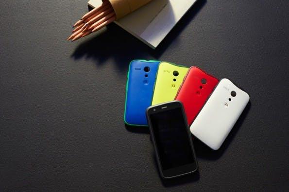 Motorola bringt mit dem Moto G wechselbare Rückseiten wieder zurück in den Mainstream-Markt. (Foto: Motorola)