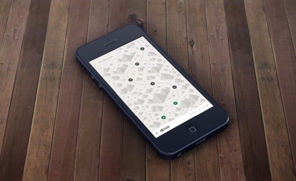 """Das Adventure """"Mountains"""" für iOS. (Bild: dribbble.com)"""