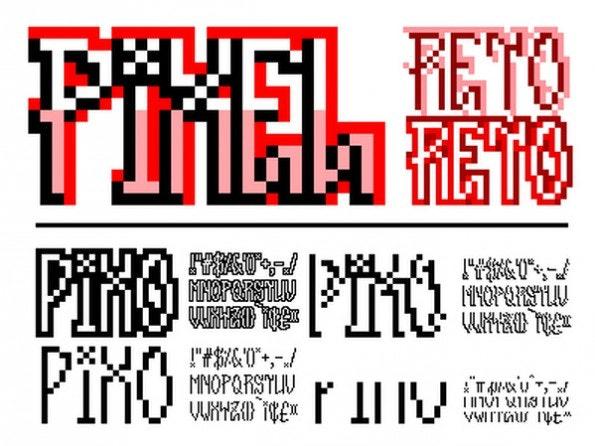 Kantenglättung? Pah, nicht mit Pixel Reto. Der Font erinnert an eine Zeit, als man noch jeden Pixel auf dem Bildschirm per Hand ablesen konnte. (Grafik: MyFonts)