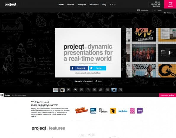 "Projeqt gewann bei der SXSW 2012 den Preis der Kategorie ""Educational Resources"". (Screenshot: Projeqt)"