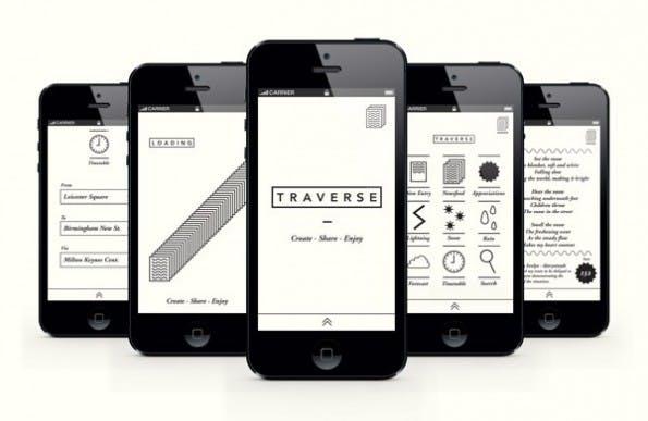 Eine iOS-App für Dichter und Pendler. (Bild: behance.net)