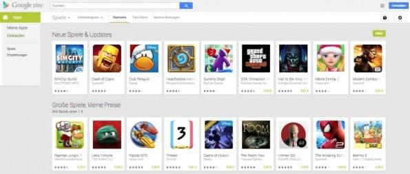 Im Play-Store gibt es unzählige Android-Games. Wir helfen euch, den Überblick zu behalten. (Screenshot: Google-Play-Store)