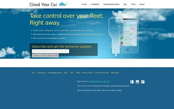 CloudYourCar verhilft Business-Kunden mit einem GPS-Tracker zu effektiveren Firmenfuhrparks. (Screenshot: CloudYourCar)