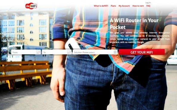 DeMiFi aus dem Berlin Hardware Accelerator bringt einen Drahtlos-Router für die Hosentasche auf den Markt. (Screenshot: DeMiFi)