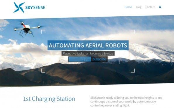 Mit einer Art portablen Akku-Tankstelle für Flugdrohnen sagt SkySense den geringen Flugreichweiten den Kampf an. (Screenshot: SkySense)