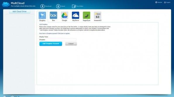 MultCloud verbindet verschiedene Cloud-Speicher. (Screenshot: MultCloud)